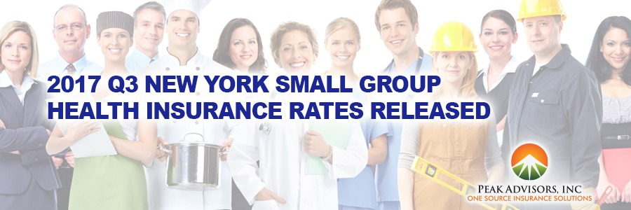 PEak Advisors 2017 3Q NY Small Group Insurance Rates